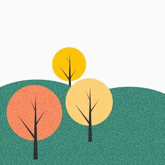 Semplice autunno albero sfondo illustrazione vettoriale