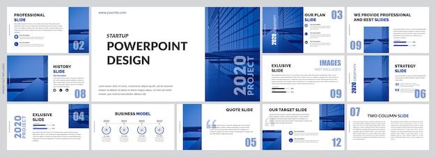 Modello di presentazione semplice blu