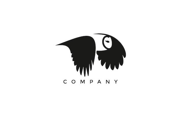 Logo semplice grassetto del gufo