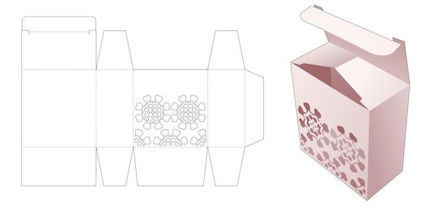 Scatola semplice con modello fustellato stencil mandala