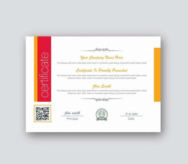 Design semplice del certificato aziendale