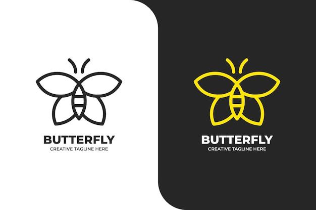 Logo monolinea farfalla semplice