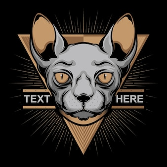 Logo semplice faccia di gatto