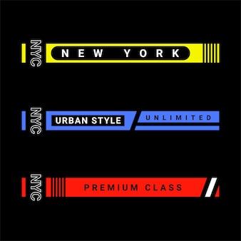 Semplice design a strisce con slogan della città, perfetto per la progettazione di serigrafie, t-shirt, felpe con cappuccio, giacche e altro