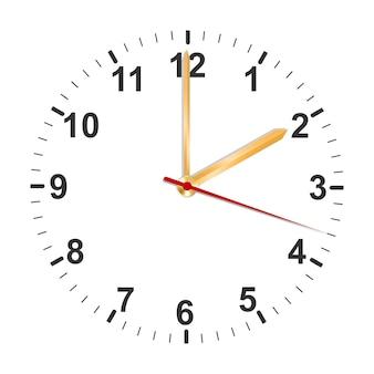 Orologio semplice con frecce dorate