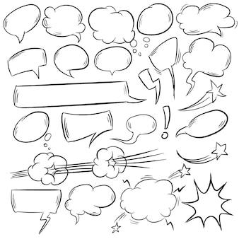 Semplici bolle comiche impostate illustrazione