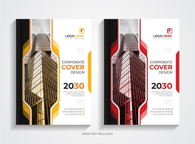 Design semplice del modello di copertina del libro aziendale aziendale