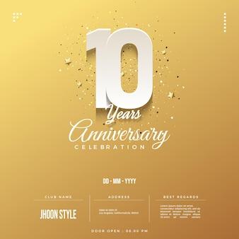 Design semplice per il decimo anniversario