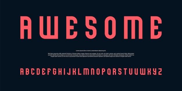 Carattere alfabeto digitale semplice
