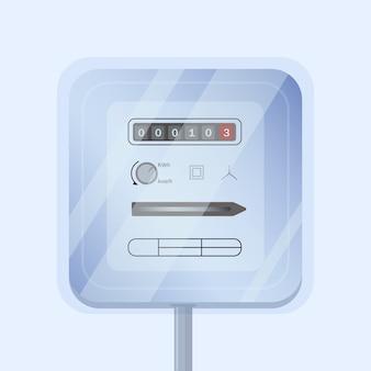 Elettricità analogica domestica semplice o contatore elettrico isolato