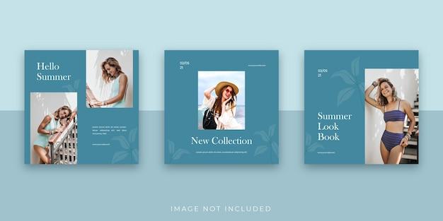 Modello di post instagram sui social media di vendita di moda semplice ed elegante