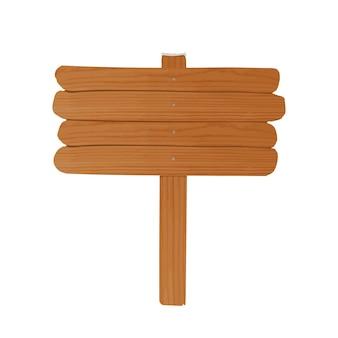 Semplice cartellone in legno vuoto fatto di assi grezze