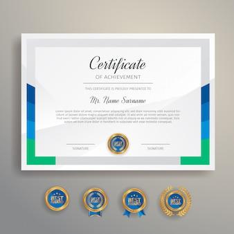 Modello di certificato semplice e piatto per esigenze educative