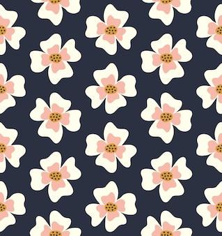 Modello senza cuciture di fiori semplici