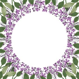 Cornice semplice con bordo di fiori selvatici viola