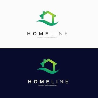 Design semplice del logo della casa