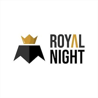 Vettore semplice di progettazione del logo della corona del re
