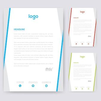 Design semplice per carta intestata