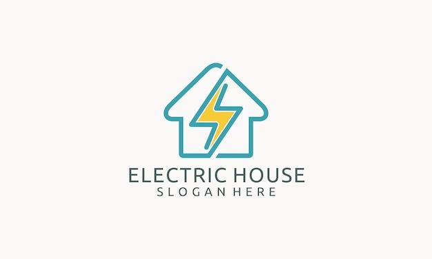 Design semplice del logo della casa di illuminazione