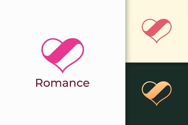 Il semplice logo dell'amore rappresenta il romanticismo o la relazione