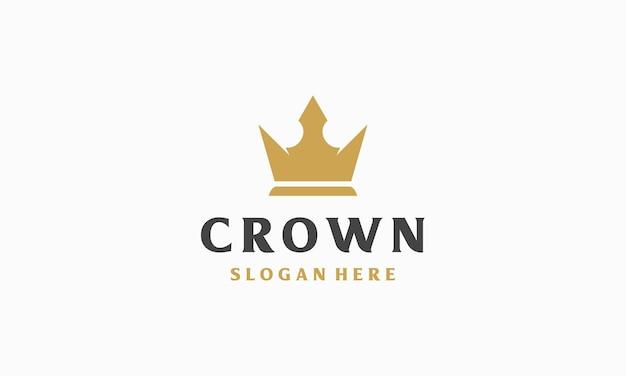 Modello di logo corona di lusso semplice