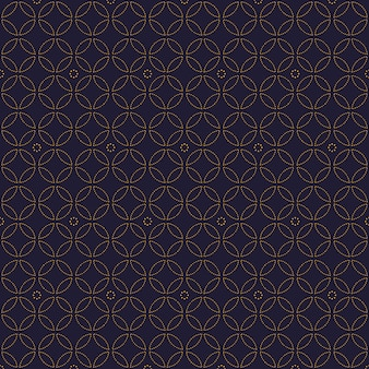 Carta da parati senza cuciture geometrica di lusso semplice del fondo del modello nello stile del batik