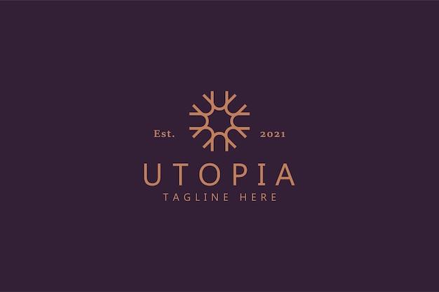 Linea di lusso semplice logo fiorito gioielli, moda, boutique, bellezza, hotel, immobili per aziende.