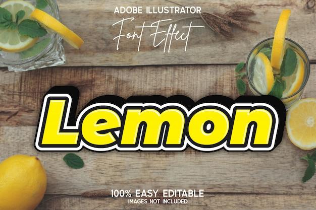 Effetto carattere modificabile semplice giallo grassetto moderno limone