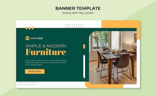 Modello di banner per mobili semplice e moderno