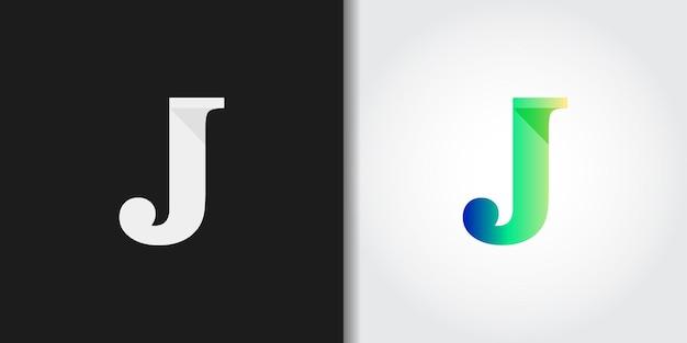 Semplice e moderna lettera iniziale j logo