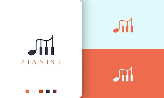 Logo o icona semplice e moderno per l'app per pianoforte