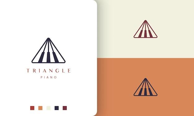 Logo o icona del pianoforte semplice e moderno per l'industria musicale