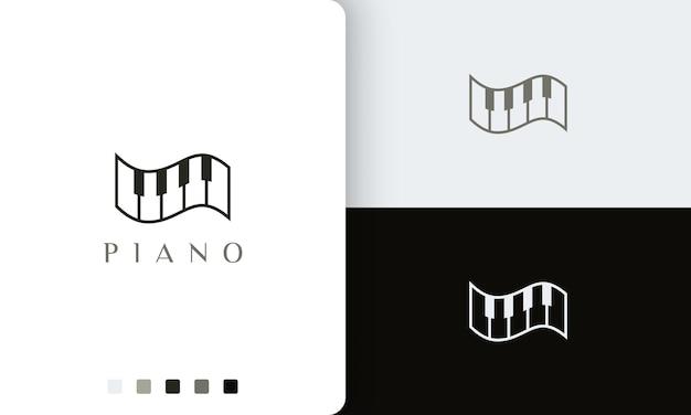 Logo o icona del pianoforte semplice e moderno