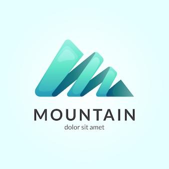 Modello di logo di montagna semplice