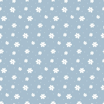 Fiori delle margherite bianche del modello senza cuciture semplice ingenuo.