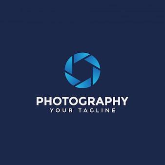 Modello semplice di progettazione di logo di fotografia