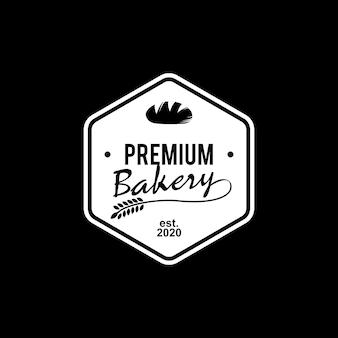Etichetta con logo semplice e premium da forno