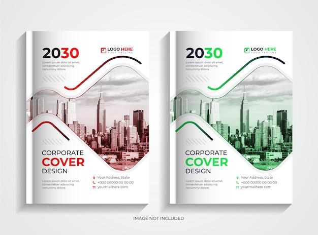 Semplice set di design per copertine di libri aziendali professionali