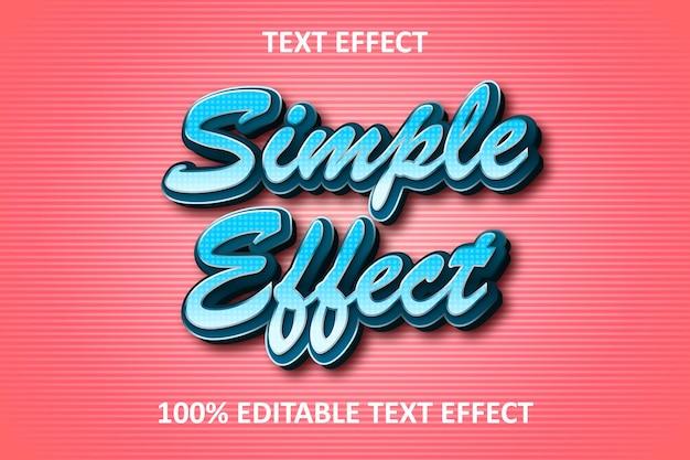 Effetto di testo modificabile retrò semplice blu rosa