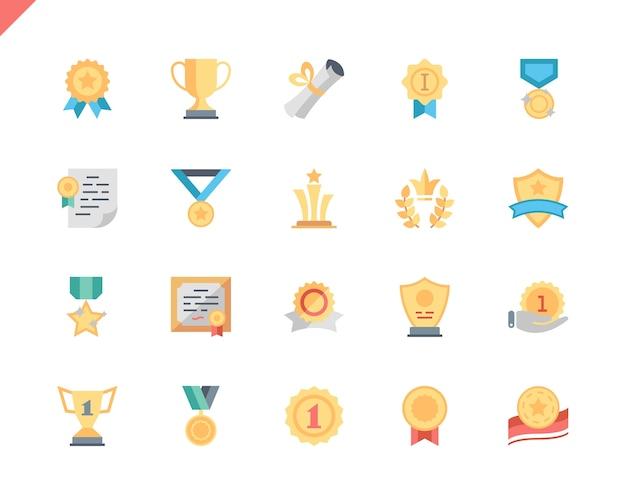 Simple set awards icone piatte per applicazioni web e mobili.