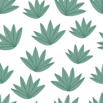 Modello senza cuciture semplice foglie verdi tropicali. pianta esotica. design estivo per tessuto, stampa tessile, carta da imballaggio, tessile per bambini