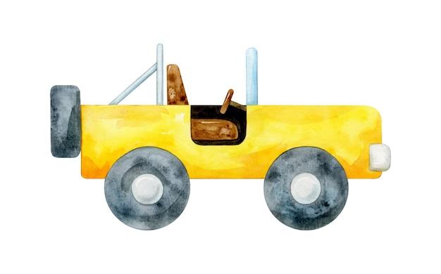Illustrazione semplice dell'automobile dell'acquerello per i bambini
