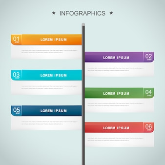 Design semplice modello infografica con opzioni di banner