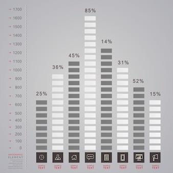 Design del modello infografica semplicità con grafico a barre