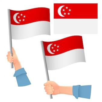 Insieme disponibile della bandiera di singapore