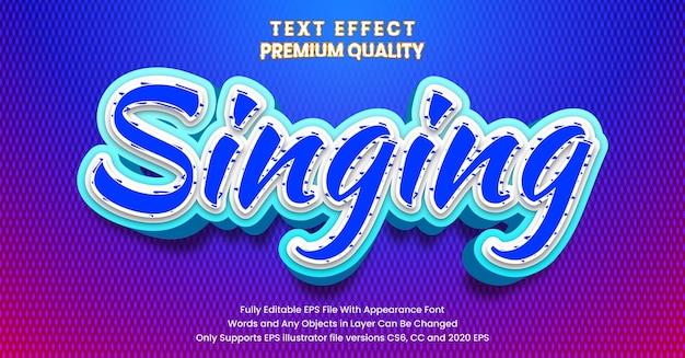 Stile di canto: effetto di testo moderno modificabile