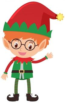Singolo personaggio dell'elfo di natale