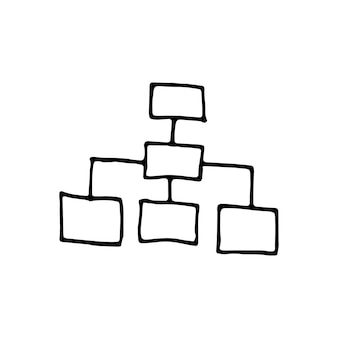 Singolo elemento del grafico nel set di affari di doodle. illustrazione vettoriale disegnata a mano per carte, poster, adesivi e design professionale.