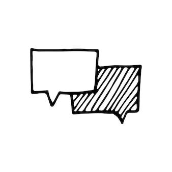 Singolo elemento del messaggio al telefono nel set di affari di doodle. illustrazione vettoriale disegnata a mano per carte, poster, adesivi e design professionale.