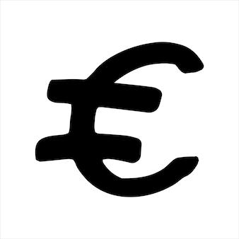 Singolo elemento di denaro nel set di affari di doodle. illustrazione vettoriale disegnata a mano per carte, poster, adesivi e design professionale.